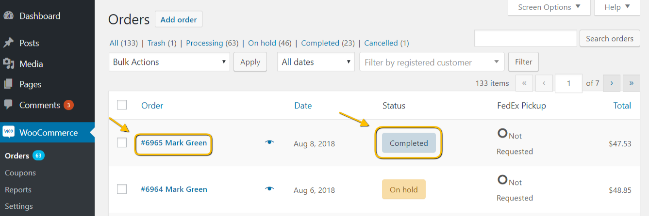 Order Status Updated automatically at your WooCommerce store