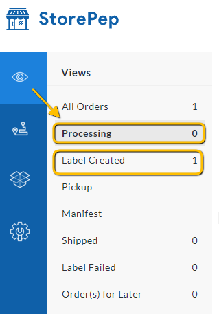 Shipping Label Generated successfully