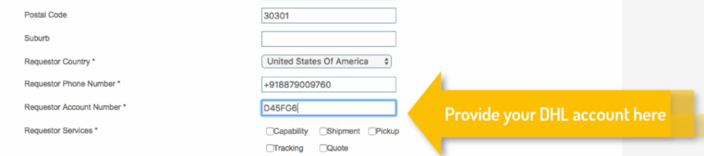How to get DHL Account number? - StorePep