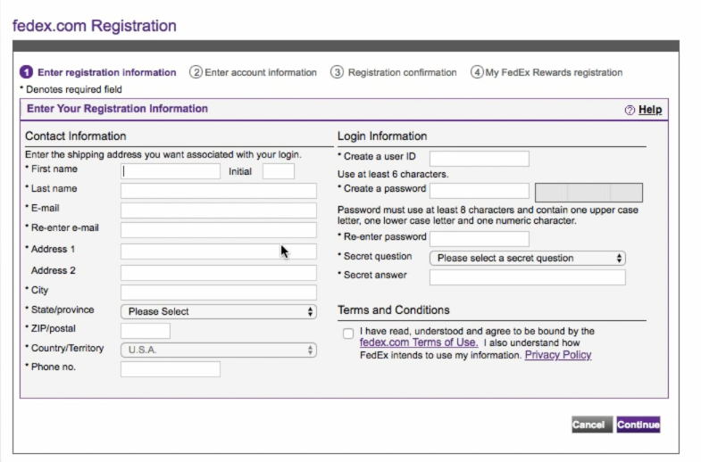 How to create FedEx Developer account for integrating with